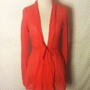 Anthropologie Knit Open Cardigan with Belt